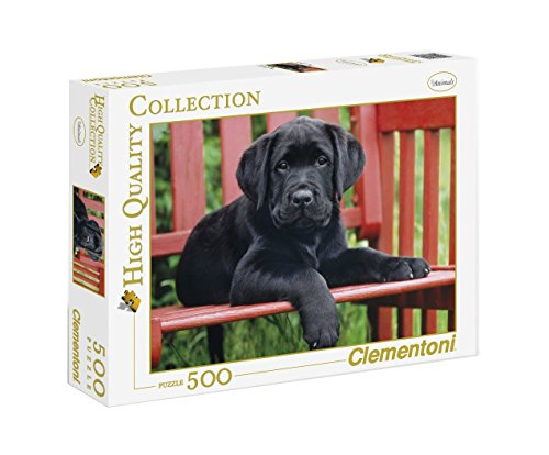Clementoni 30346.5 - Puzzle High Quality Collection, The Black dog, 500 Teile