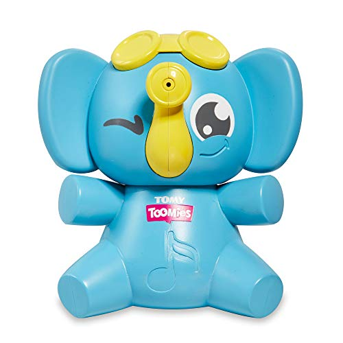 TOMY Toomies E72815C Sing & Squirt Squeezable Elephant Bath, Educational Musical Water Play, Sensory Toy for Boys and Girls, Suitable for Babies and Toddlers from 18 Months +, Multicoloured