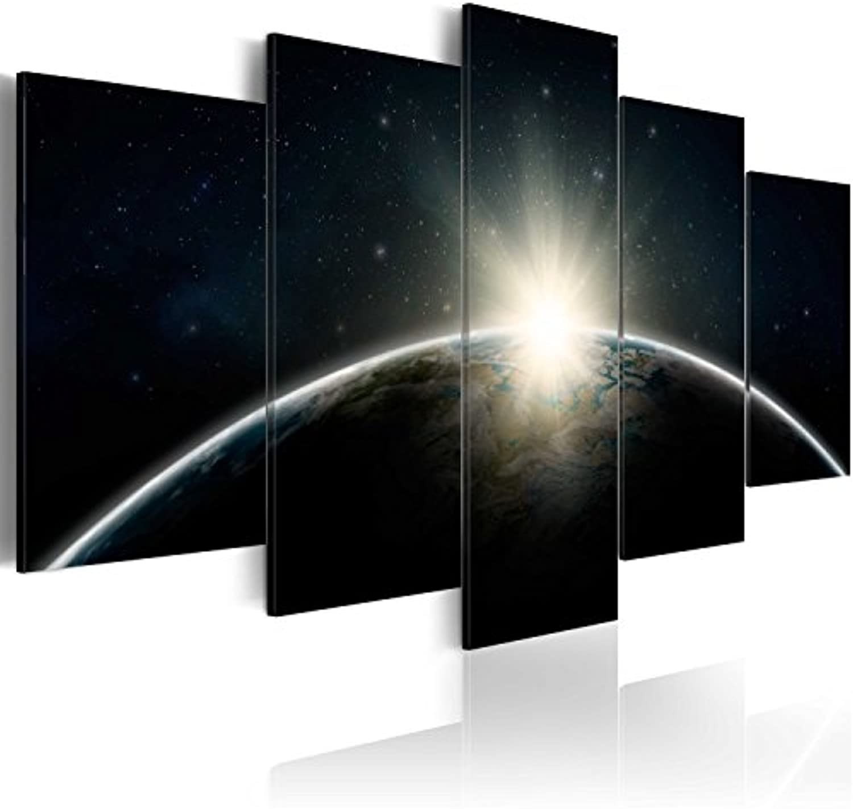 Murando Akustikbild Erde Earth 225x112 cm Bilder Hochleistungsschallabsorber Schallschutz Leinwand Akustikdmmung 5 TLG Wandbild Raumakustik Schalldmmung f-A-0089-b-m