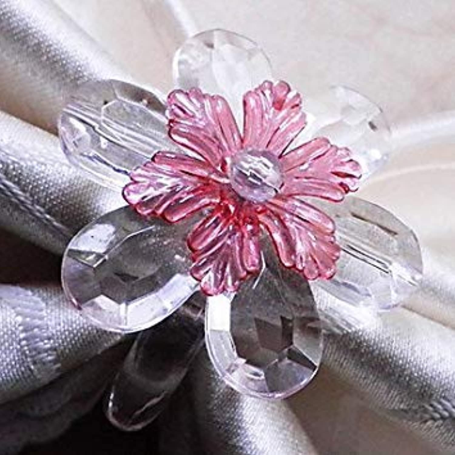 Crystal Daisy Napkin Ring, Set of 12, Acrylic Beads Dia3.5cm  00980882
