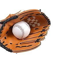 YUXUANCIXIU-R 野球用手袋、10代の子供用ソフトボール野球用バッティングトレーニング野球用手袋、左手、茶色。 スポーツ用品 (Size : M)