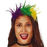 NET TOYS Außergewöhnlicher Samba Haarreif mit Federn - Origineller Damen-Kopfschmuck Diadem Papagei - Passend gekleidet für Karneval & Mottoparty