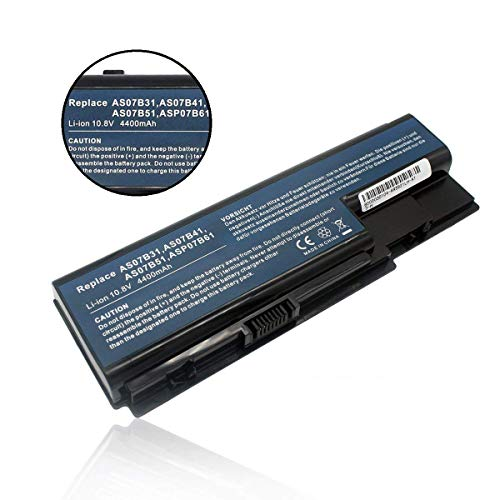 Batteria di Ricambio AS07B31 AS07B32 AS07B41 AS07B42 AS07B51 AS07B52 AS07B71 AS07B72 per Acer Aspire 5230 5330 5535 5710 7720 Series Sostituisce Battery -10.8V 4400mAh