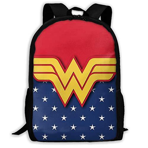 JNMJK Wonder Woman Mochila de Viaje para Adultos Se Adapta a 15.6 Pulgadas Mochilas para computadora portátil Bolsa de Colegio Escuela Mochila Informal para Hombres y Mujeres