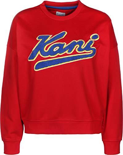 Karl Kani College Crew W Sweater red/Navy