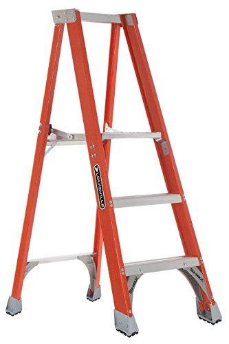 Louisville Ladder FP1403HD Fiberglass Platform Ladder, 3 Feet, 375 Pound Duty Rating