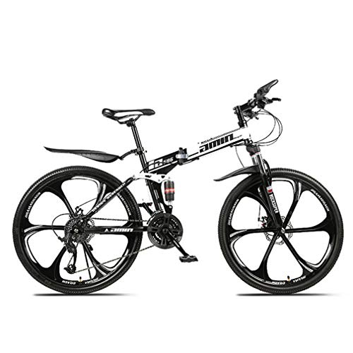 N//A MOUNTAIN BIKES, ADULT FOLDING BIKES, 26 INCH BIKES, FULL SUSPENSION MOUNTAIN BIKES, MEN'S AND WOMEN'S BIKES, HARD-TAIL MOUNTAIN BIKES (White 6 knife wheel, 21 speed)