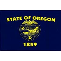 """Oregon State Flag - 3 ス"""" x 5"""" - High Gloss UV Coated Laminate Water Proof Sticker DECAL"""