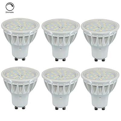 5W GU10 LED Bulb Equivalent 50W 600LM,120 Degree Beam Angle.