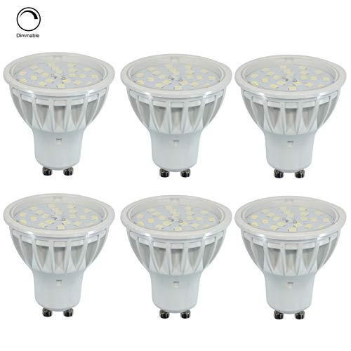Dimmbar LED GU10 Lampen Scheinwerfer Ersetz 50W Warmweiß 2700K RA85 600LM 120°Abstrahlwinkel,6er Pack.