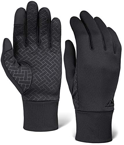 Touch Screen Running Gloves for Men & Women - Thermal Winter Glove Liners for Texting, Cycling & Driving - Thin, Lightweight & Warm Sports / Athletic Hand Gloves - Touchscreen Smartphone Compatible