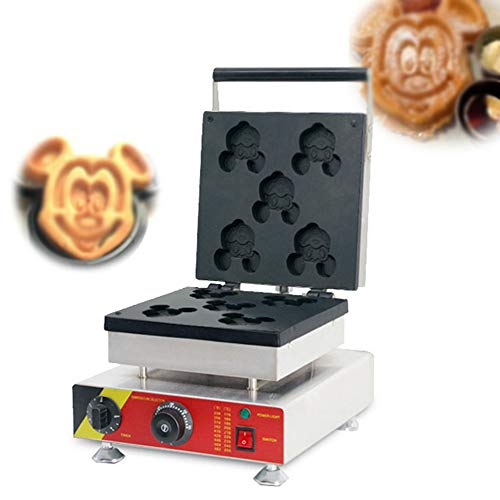 Learn More About TECHTONGDA Commercial Cartoon Waffle Maker Snack Baking Machine 5 holes Waffles Mac...