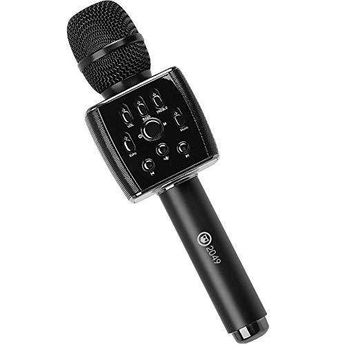 2049 X37 12w FM Version Cardioid Dynamic Carpool Karaoke Microphone, Adult Kid Handheld Wireless Bluetooth Karaoke Machine for Cars Compatible with Smart phone/PC/PAD/Car Speaker/TV