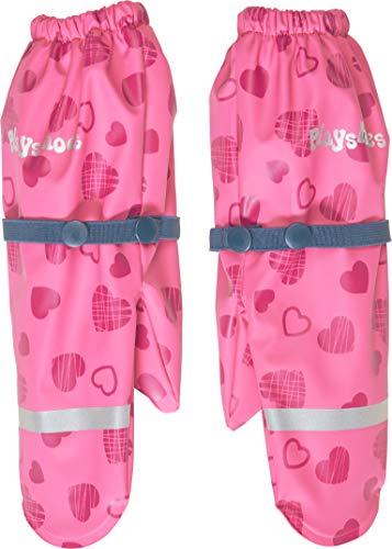 Playshoes Mädchen Matschhandschuh mit Fleece-Futter Herzchen Handschuhe, Rosa (Pink 18), 1 (Herstellergröße: 1)