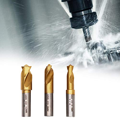 Power Tool Weld Cutter Cutting Accessories HSS CO Material 1/4in 5/16in 3/8in for Industry Drill Bit 3pcs