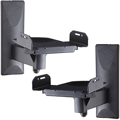 VideoSecu One Pair of Side Clamping Bookshelf Speaker Mounting Bracket with Swivel and Tilt for...