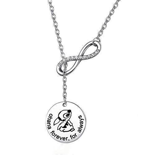 Ohana Bracelet Ohana Forever For Always Ohana Jewelry With Hibiscus Flower Charm (Fashion Ohana Pendant Necklace)