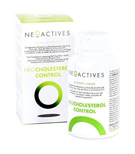 NeoCholesterol Control | Complemento Alimenticio con levadura de arroz rojo, co-enzima Q10 y Más Ingredientes Naturales | Ayuda a controlar y reducir los niveles de colesterol y triglicéridos (30)
