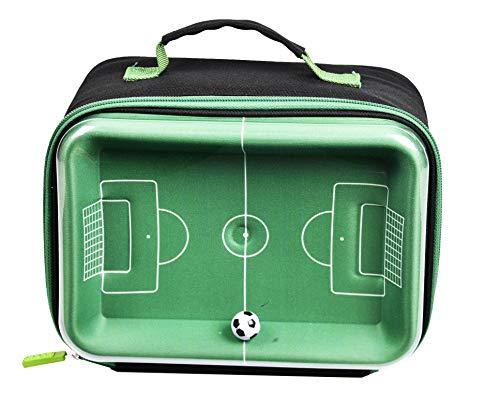 Polar Gear Interactive Football Pitch and Ball Bag Internative 3D-Fußball-Lunch-Tasche, Polyester, Eva, Fom Isolierung, PEVA-Futter, PVC-Oberteil, grün, Einheitsgröße