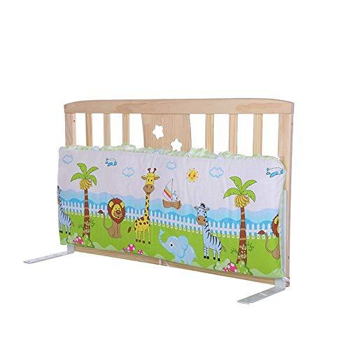 KOSGK Massiv trä säng skyddsräcke, baby sängkant staket anti-fall säkerhetsram (färg: B, storlek: 90 cm)
