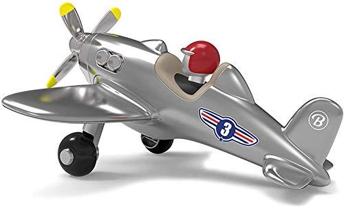 Baghera Jet Plane Argento Aeroplanino Giocattolo | Elicotterino per Bimbi Elegante dal Design Vintage | Elicottero Giocattolo per Bambini a Partire da 3 Anni d'età | Modellino Aereo Retro