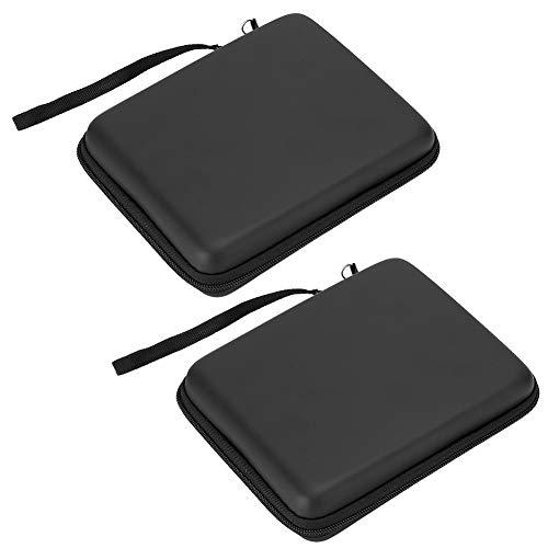 AMONIDA Bolsa Protectora, Bolsa portátil con Cordones Bolsa de Almacenamiento portátil, EVA Brillante para 2DS(Black)