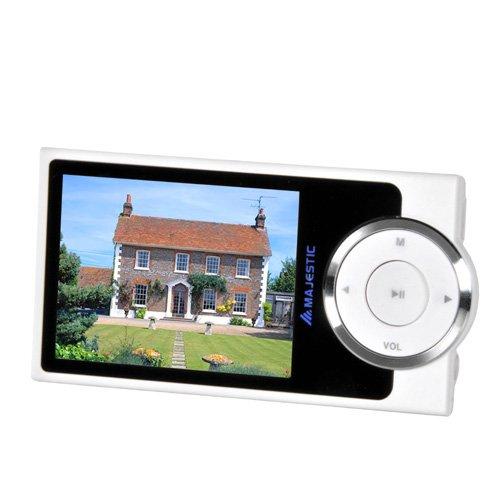 Majestic SDA 8064 - Lettore MP3/MP4 con Fotocamera da 3.2 MP, memoria 8G, Display da 2.4', Radio, registratore vocale, Bianco