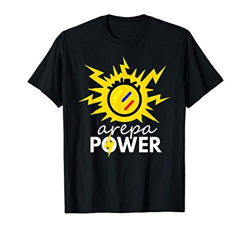 Arepa Power Arepa Eléctrica Venezolana Divertida Camiseta