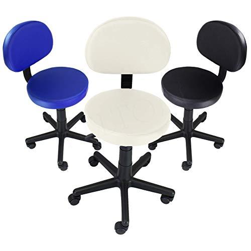 Rollhocker Arbeitshocker Kosmetikhocker Drehstuhl Stuhl Bürostuhl & Rückenlehne - Creme