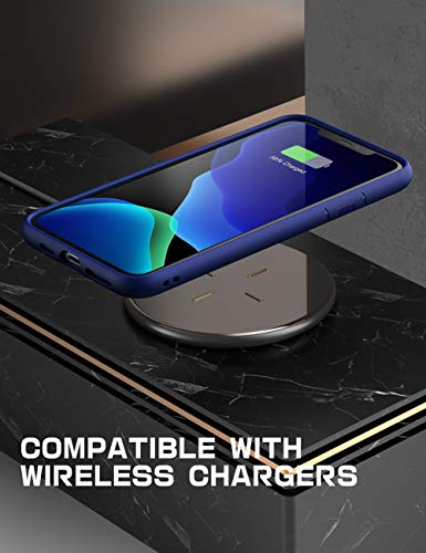 SUPCASE Unicorn Beetle Style Series Case Designed for iPhone 11 Pro 5.8 Inch (2019 Release), Premium Hybrid Protective Clear Case (Navy)