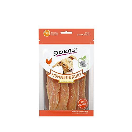 Dokas Hunde Snack Hühnerbrust getrocknet | 11x70 g Hundesnack