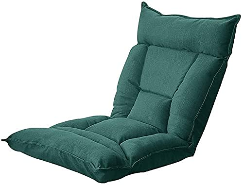 FGDSA Silla de Piso Silla de meditación Semi-Plegable 5 Engranajes Respaldo Ajustable sillón de salón Perezoso con Forro Independiente para Juegos de Lectura (Color: Gray-b)