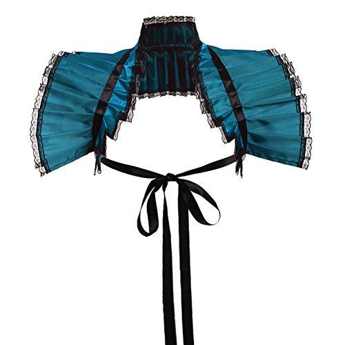 GRACEART GRACEART Viktorianische Verstimmen Hals Bolero Kragen (Blau)