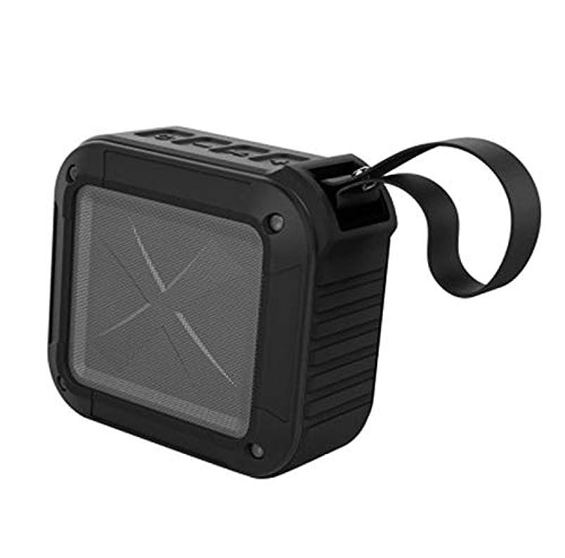 論争的重要な罰するZYIS TF/FM/AUX/NFCのBluetoothスピーカーバイク(黒)でHDサウンドと低音付きワイヤレスBluetoothポータブルスピーカー、ミニワイヤレス防水スピーカー (色 : Black)