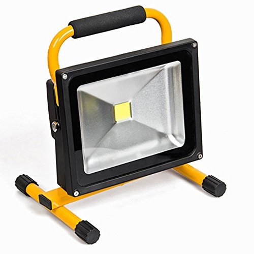 MCTECH® 30W Tragbare Wiederaufladbare Handlampe LED Flutlicht-Lampe Camping Lampe Arbeitsscheinwerfer Angeln Beleuchtung Outdoor Laterne Campinglaterne Werkstatt-Flutlicht IP65 (30W Warmweiß Gelb)