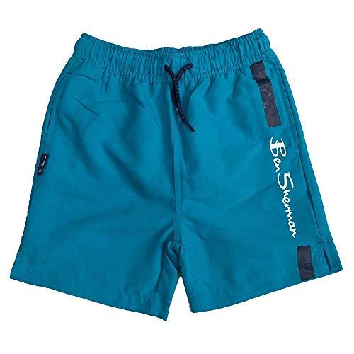 Ben Sherman Shorts Baño del Caribe Mar Logo Pantalones Cortos Siglos 3Y hasta 1