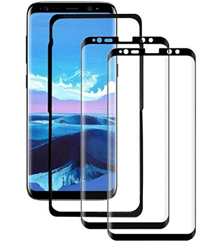 SYANFI [2 Pezzi] Vetro Temperato per Samsung Galaxy S8 Plus, Pellicola Protettiva 3D Copertura Completa, 9H Durezza, Senza Bolle, Anti-Graffi, HD Chiaro