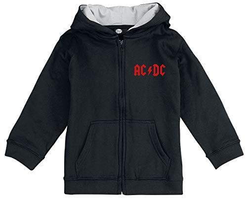 AC/DC Black Ice Unisex Chaqueta con Capucha Negro 68/74, 100% algodón (orgánico),