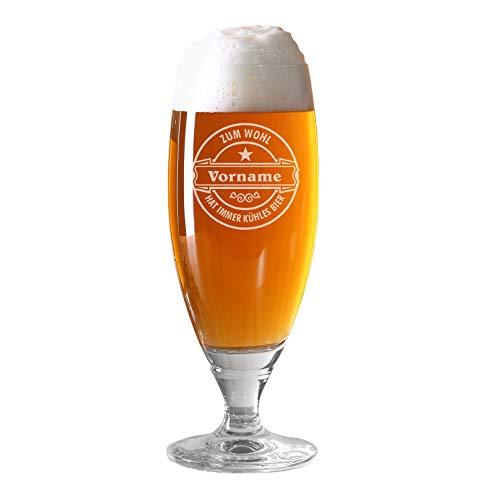 Herz & Heim® Pilstulpe (Bohemia) - Echter Geniesser - mit Gratis Gravur des Namens Kühles Bier