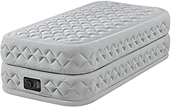 INTEX Unisex's 64462BS Twin Supreme Air-Flow Airbed with Fiber-tech Bip (for UK Only), Grey, Size
