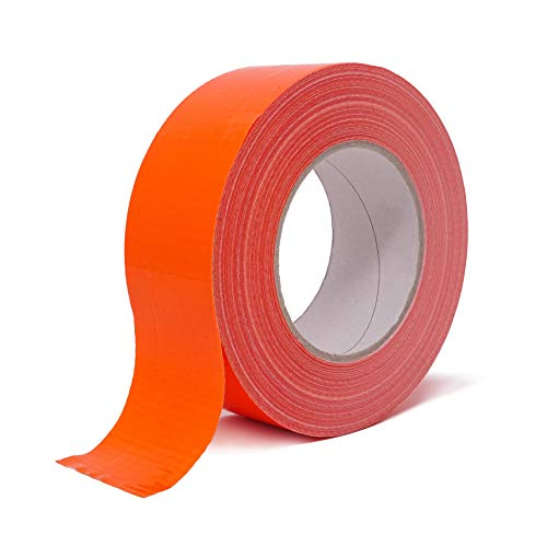 gws Hotmelt Spezial-Gewebeklebeband stark klebendes Duct Tape | Länge: 50 m | versch. Farben | Klebstoff: Synthese-Kautschuk | Profi-Qualität (1 Rolle - orange - 48 mm breit)