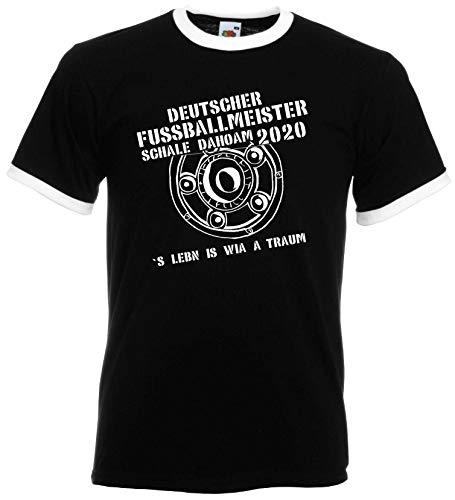 München Herren Meister Schale Dahoam 2020 Ultras Fan Retro-Shirt