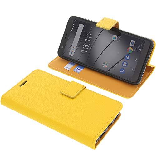 foto-kontor Tasche für Gigaset GS280 Book Style gelb Schutz Hülle Buch