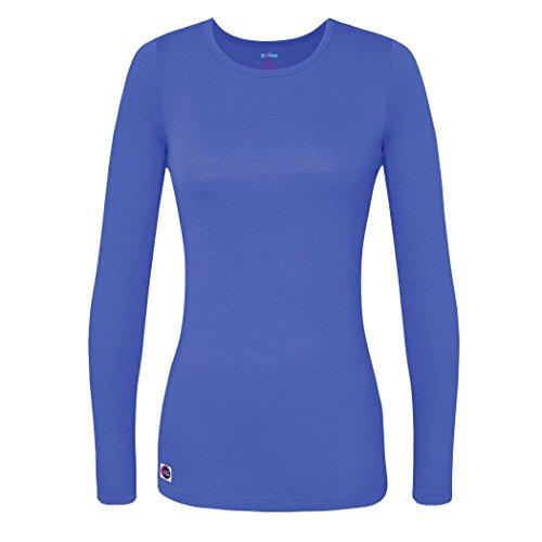 Sivvan Women's Comfort Long Sleeve T-Shirt/Underscrub Tee - S8500 - Ceil Blue - M