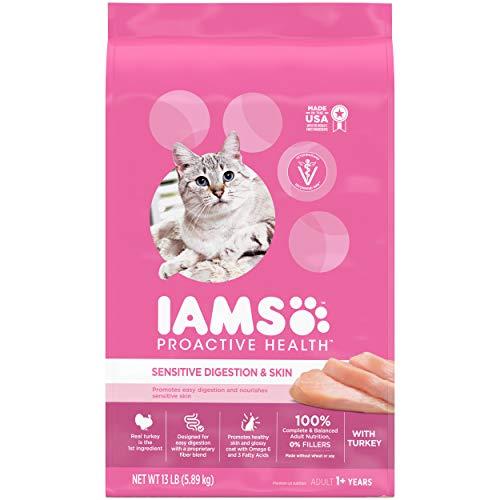 IAMS PROACTIVE HEALTH Adult Sensitive Digestion & Skin Dry Cat Food...