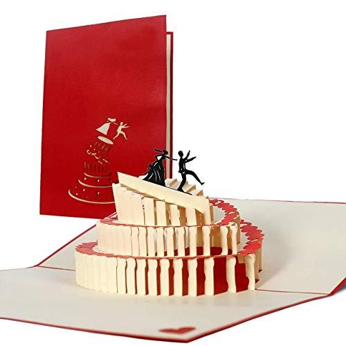 Hochzeitskarte Glückwunsch I Witzig, Lustig, Comic, Geschenk, Mitbringsel I originelle Pop Up Karte L09