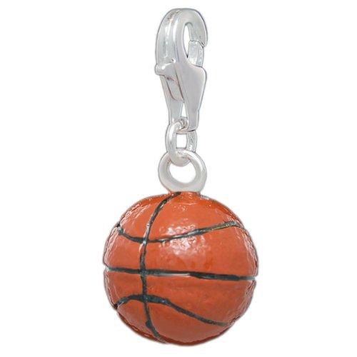 Melina Damen-Charm Anhänger Basketball 925 Sterling Silber 1801544