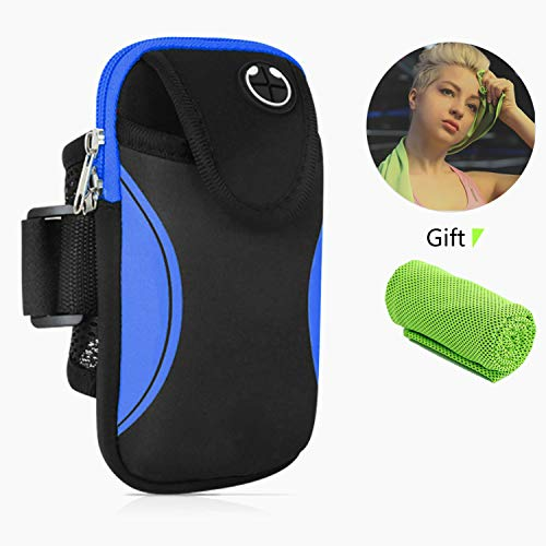 MOLIWEN Brazalete Deportivo, Universal Impermeable Teléfono Móvil Brazo Bolsa para iPhone Samsung Galaxy Moto Huawei Xiaomi etc y Otros Moviles, Ideal para Correr Running Gimnasio Curso Fitness Sport