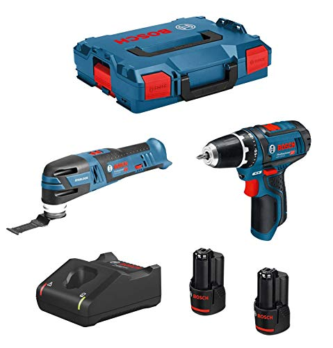 BOSCH Kit 12V B12GSRGOP2bat3a-40 (GSR 12V-15 + GOP 12V-28 + 2 x 3,0 Ah + GAL12V-40 + L-Boxx 102)
