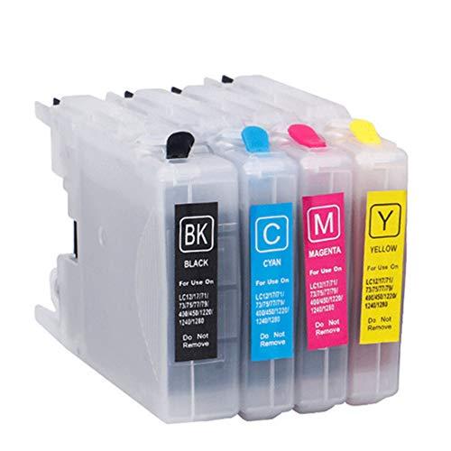 VNZQ Cartucho de tinta LC975, DCP-J125 DCP-J315W DCP-515W MFC-J410 MFC-J415W MFC-J220 MFC-J265W (juego de 4 colores) compatible con impresora Brother